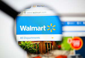 Magnifying glass over Walmart sustainability report