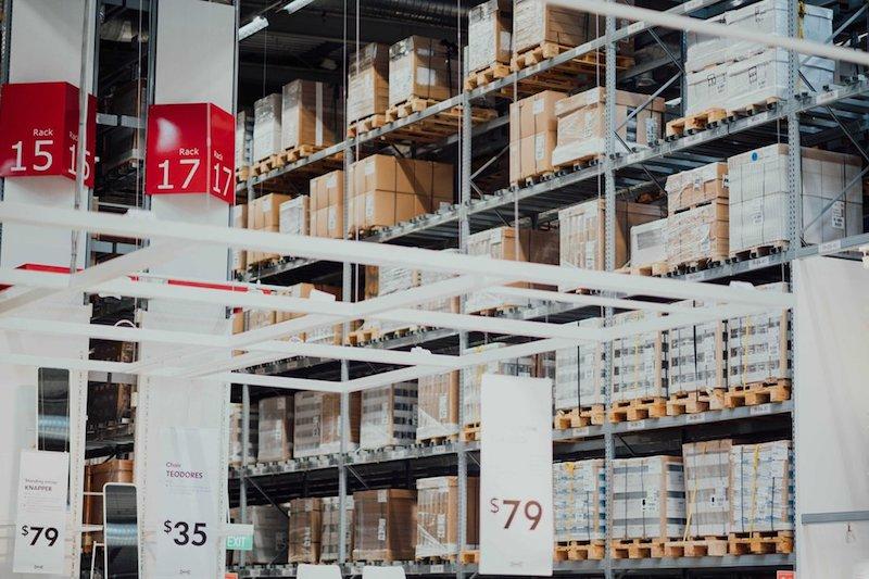 storage shelves aka Inventory Management