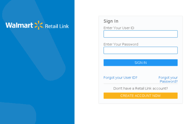 retail link login scren