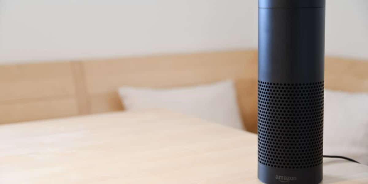 Amazon Alexa Smart Speaker on a table